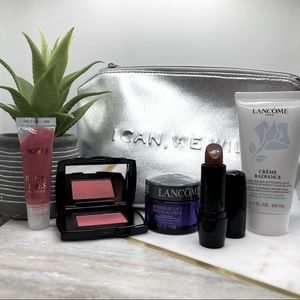 Lancôme Must Haves I Can We Will Set Lipstick Juicy Tubes Subtil Blush Lift NEW